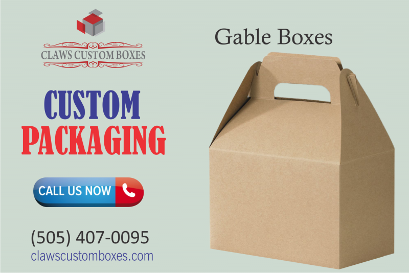 Gable boxes are comes in printed with classy designs