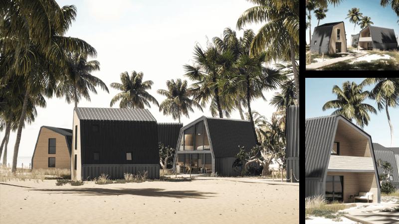 Modello A case modulari in legno A-FOLD