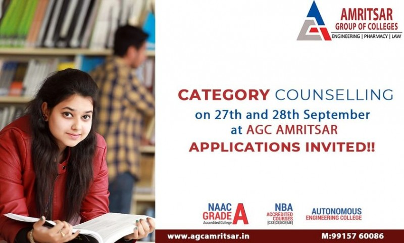 Golden Opportunity!! Category Counseling on 27th and 28th September!!