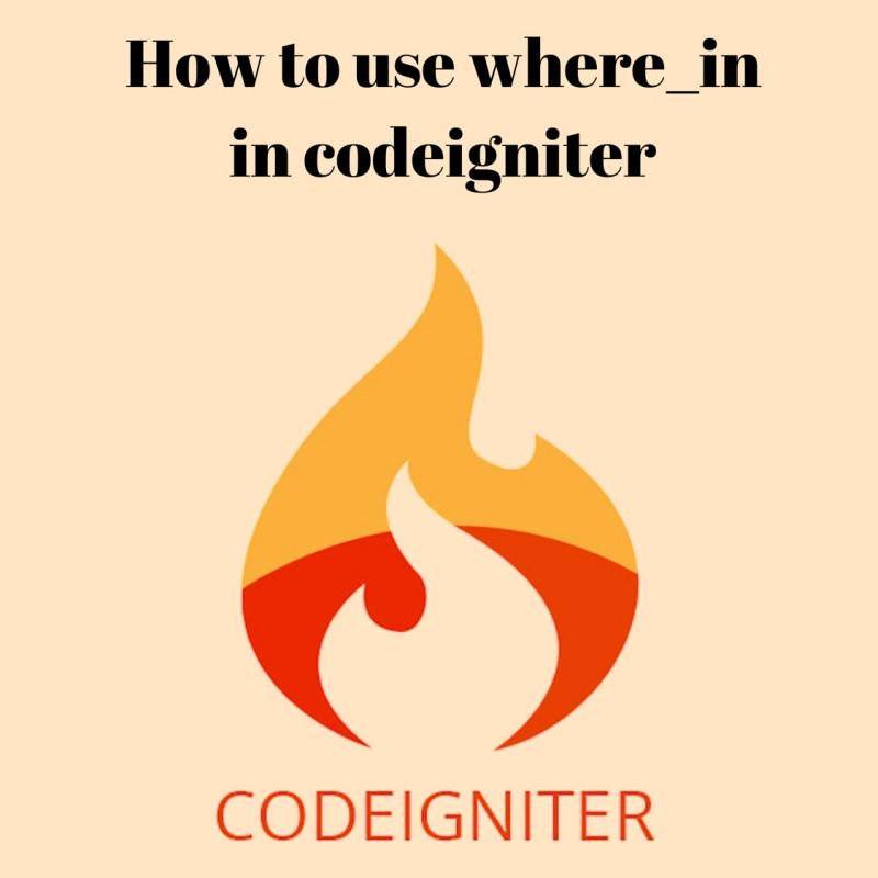 How to use where_in in codeigniter